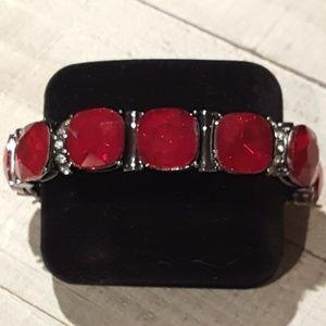 Simply Vera - Vera Wang Red Jeweled Bracelet
